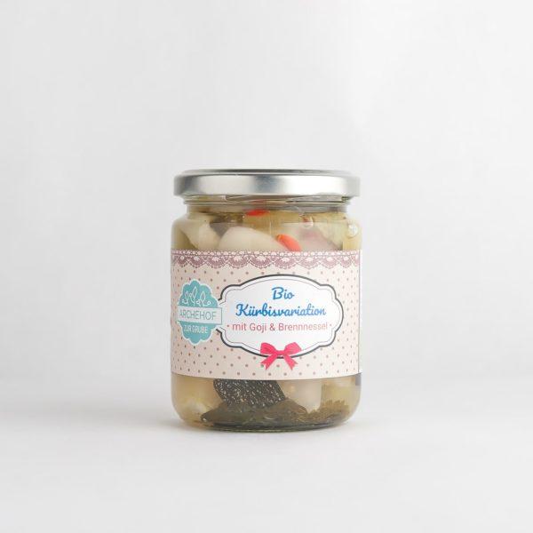 Kürbisvariation mit Goji fermentiert