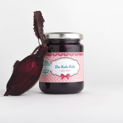 Bio rote Rübe mit Kren fermentiert